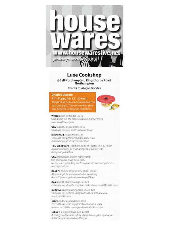 Housewares Jan Feb 2016   Luxe Cookshop Page 001